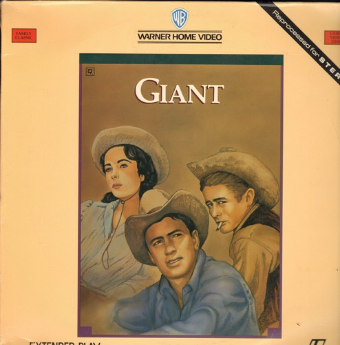 Giant - Giant - The Epic Drama starring James Dead, Liz Taylor and Rock Hudson on 2 LASER DISCS in re=processed STEREO (this is LASER DISC format, not any other kind of media!) - NM9/EX8 - Laser Discs