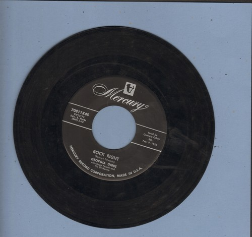 Gibbs, Georgia - Rock Right/The Greatest Thing - VG7/ - 45 rpm Records