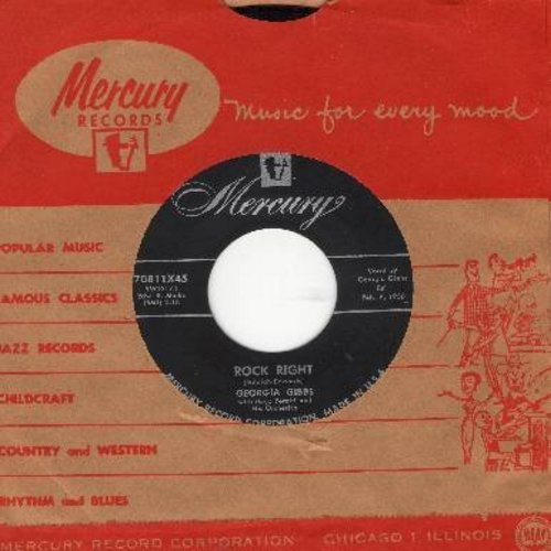 Gibbs, Georgia - Rock Right/The Greatest Thing (with vintage Mercury company sleeve) - NM9/ - 45 rpm Records