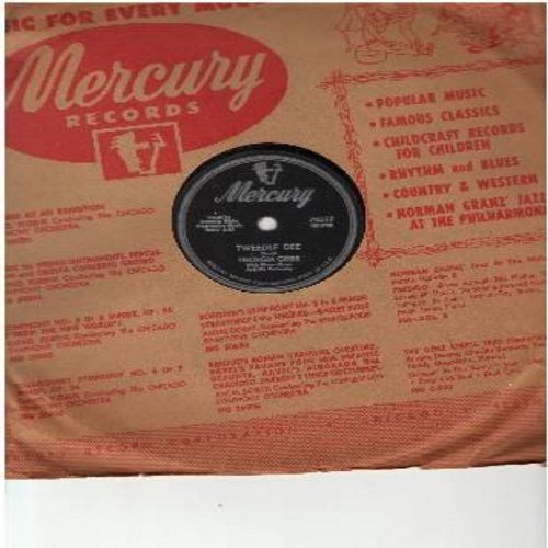 Gibbs, Georgia - Tweedly Dee/You're Wrong, All Wrong (RARE vintage 10 inch 78 rpm record with Mercury company sleeve) - VG7/ - 78 rpm