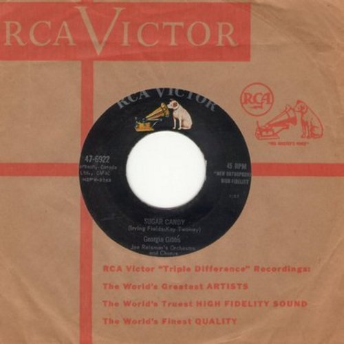 Gibbs, Georgia - Sugar Candy/I'm Walking The Floor Over You (with vintage RCA company sleeve) - NM9/ - 45 rpm Records