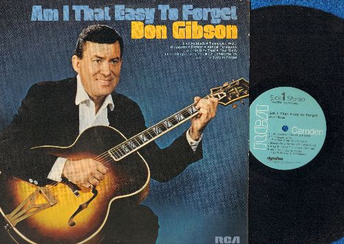 Gibson, Don - Am I That Easy To Forget: I Can't Stop Loving You, Oh Lonesome Me, Half As Much, Four Walls (vinyl STEREO LP record, 1973 issue of vintage recordings) - NM9/NM9 - LP Records
