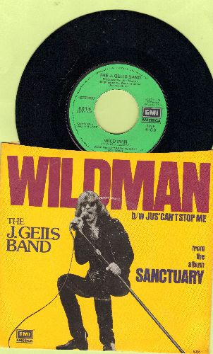 Geils, J. Band - Wild Man/Jus' Can't Stop Me (with picture sleeve) - NM9/NM9 - 45 rpm Records