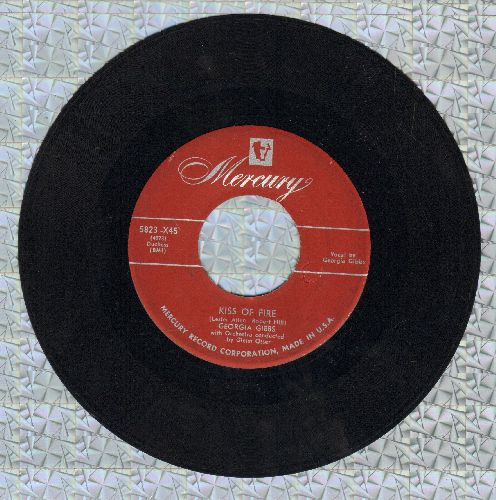 Gibbs, Georgia - Kiss Of Fire/A Lasting Thing (maroon label first issue) - VG7/ - 45 rpm Records