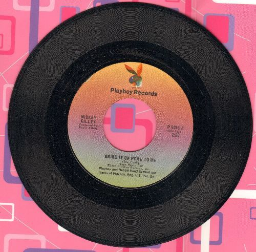 Gilley, Mickey - Bring It On Home To Me (NICE Mellow-Country version of Sam Cooke Classic!)/How's My Ex Treating You - EX8/ - 45 rpm Records