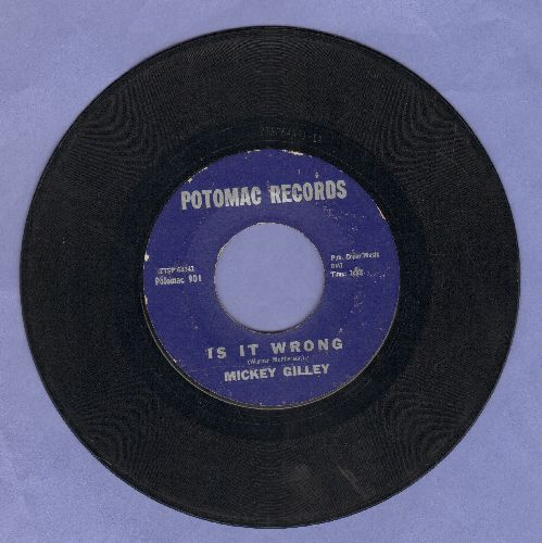 Gilley, Mickey - Is It Wrong/No Greater Love - VG7/ - 45 rpm Records