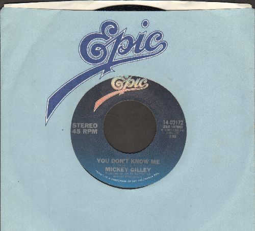 Gilley, Mickey - You Don't Know Me/Jukebox Argument (MINT condition with Epic company sleeve) - M10/ - 45 rpm Records