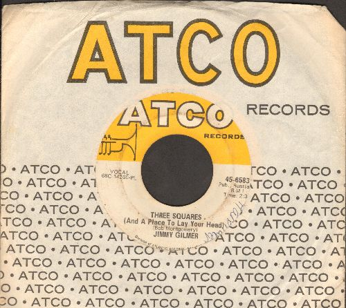 Gilmer, Jimmy - Three Squares (And A Place To Lay Your Head)/Baby (with Atco company sleeve) - VG7/ - 45 rpm Records