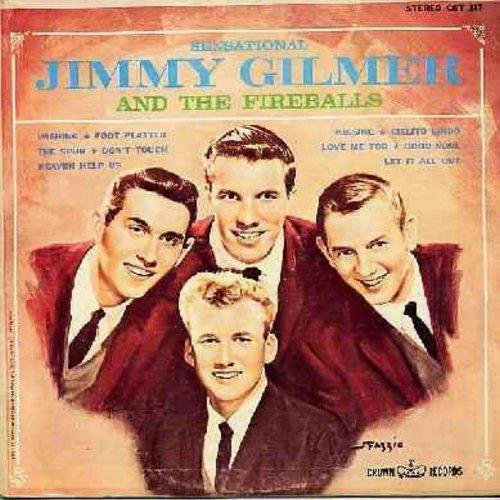 Gilmer, Jimmy & The Fireballs - Sensational Jimmy Gilmer & The Fireballs: Kissing, Foot Platter, Wishing, Cielito Lindo,Heaven Help Us (vinyl STEREO LP record) - NM9/VG6 - LP Records