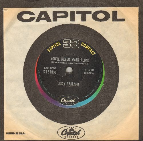 Garland, Judy - You'll Never Walk Alone/More Than You Know (7 inch 33 rpm STEREO record, small spindle hole, with vintage Capitol company sleeve) - EX8/ - 45 rpm Records