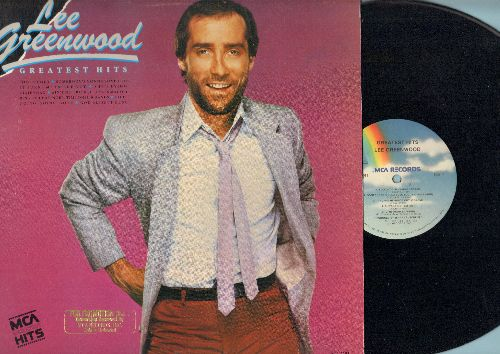 Greenwood, Lee - Greatest Hits: I.O.U., God Bless The USA, Fool's Gold, She's Lying, Dixie Road (vinyl LP record) - NM9/EX8 - LP Records