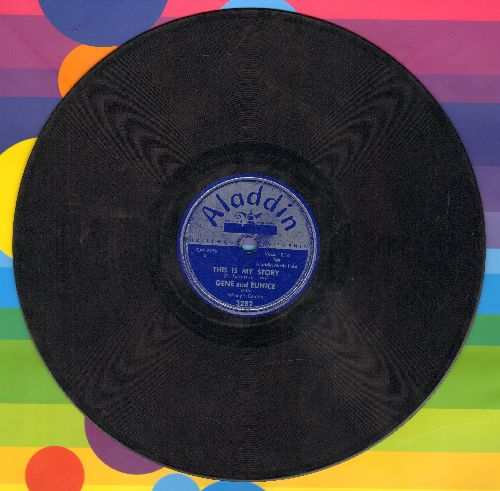 Gene & Eunice - This Is My Story/Move It, Baby (10 inch 78 rpm record) - VG6/ - 45 rpm Records