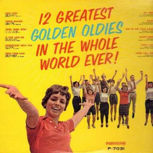 Desires, Bluenotes, Fabulairs, Universals, Jimmy Rivers, others - 12 Greatest Golden Oldies In The Whole World Ever!: My Hero, Long Tall Girl, Lost Love, Mopity-Mope, While Walkin' (vinyl MONO LP record) - EX8/EX8 - LP Records