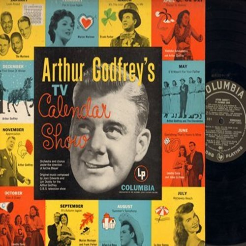 Godfrey, Arthur - Arthur Godfrey's TV Calendar Show: It's The Irish In Me, Easter In Waikiki, Summer's Symphony, The First Snow Of Winter (vinyl MONO LP record) - EX8/EX8 - LP Records