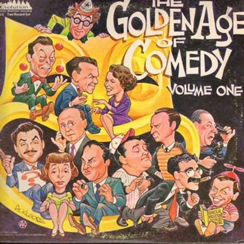 Burns & Allen, Jack Benny, Milton Berle, Abbot & Costello, others - Golden Age Of Comedy Vol. 1: 20 Hilarious selections on 2 LP records, gate-fold cover - M10/VG7 - LP Records