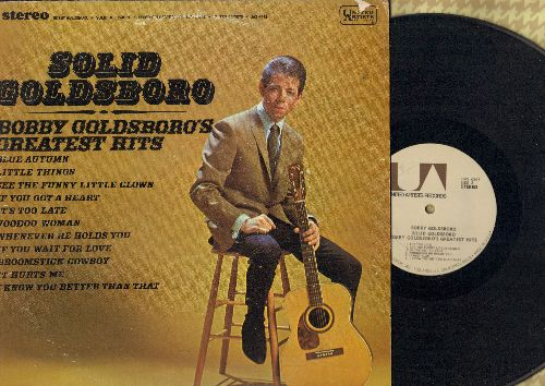Goldsboro, Bobby - Solid Goldsboro - Bobby Goldsboro's Greatest Hits: It's Too Late, Voodoo Woman, Little Things, See The Funny Little Clown, If You Wait For Love (vinyl STEREO LP record, 70s pressing) - NM9/VG7 - LP Records