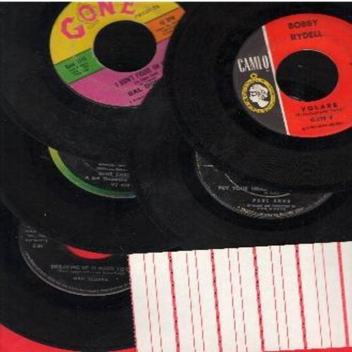 Donner, Ral, Neil Sedaka, Paul Anka, Gene Chandler, Bobby Rydell - Class of '62 vintage 45rpm 5-Pack: I Didn't Figure On Him, Duke Of Earl, Volare, Put Your Head On My Shoulder, Breaking Up Is Hard To Do. First issue originals in very good or better condi