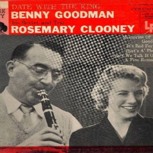 Clooney, Rosemary & Benny Goodman - House Party: Memories Of You, A Fine Romance, Goodbye, Can't We Talk It Over, That's A'Plenty, It's Bad For Me (RARE 10 inch LP with picture cover) - NM9/EX8 - LP Records
