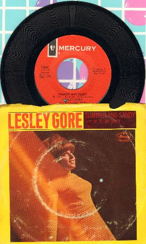 Gore, Lesley - Summer And Sandy/I'm Falling Down (with picture sleeve, bb, wos) - NM9/VG6 - 45 rpm Records
