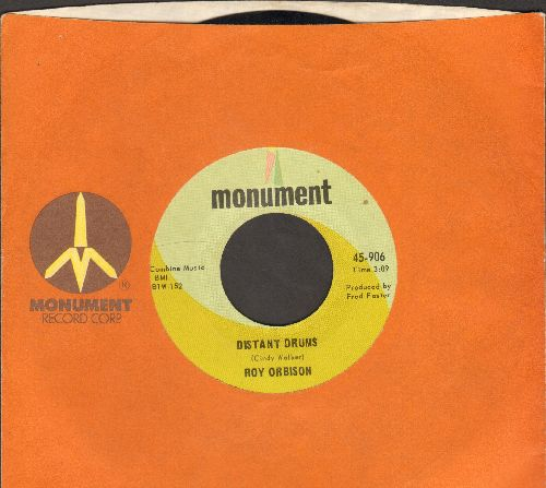 Orbison, Roy - Distant Drums/Let The Good Times Roll (with Monument company sleeve) - NM9/ - 45 rpm Records