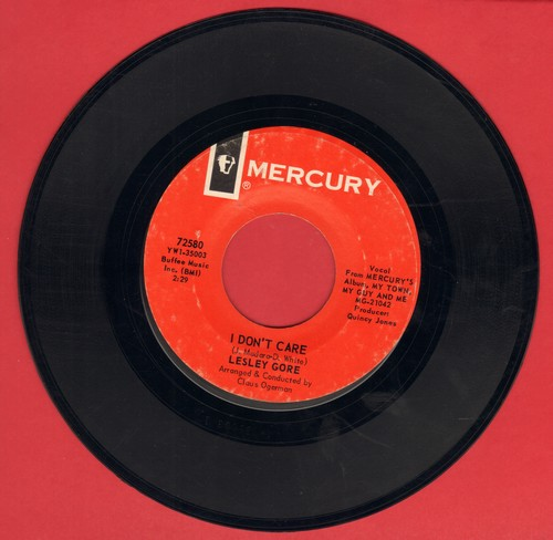 Gore, Lesley - I Didn't Care/Off And Running - EX8/ - 45 rpm Records
