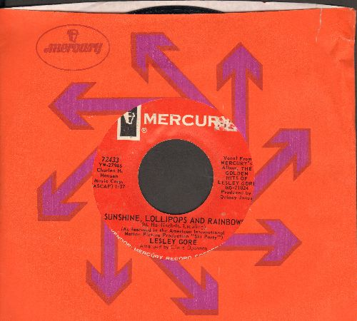 Gore, Lesley - Sunshine, Lollipops And Rainbows/You've Come Back (with Mercury company sleeve)  - EX8/ - 45 rpm Records