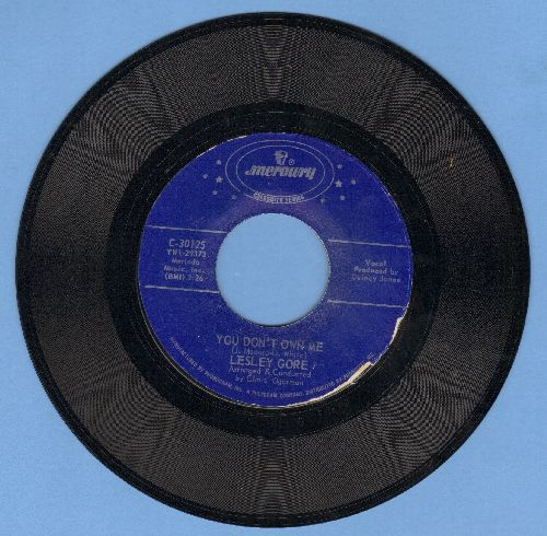 Gore, Lesley - Judy's Turn To Cry/You Don't Own Me (early double-hit re-issue) - EX8/ - 45 rpm Records