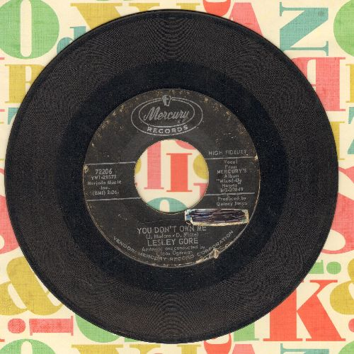 Gore, Lesley - You Don't Own Me/Run Bobby, Run (sol) - VG6/ - 45 rpm Records