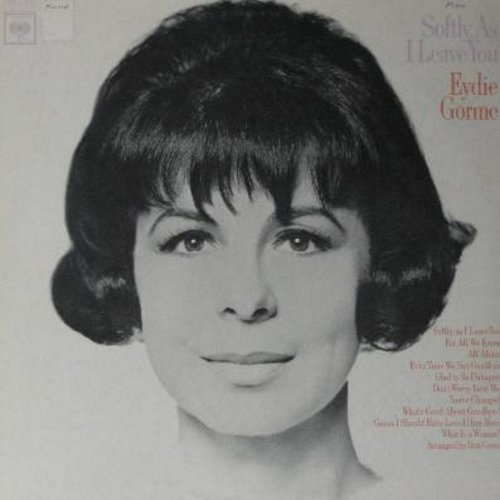 Gorme, Eydie - Softly, As I Leave You: For All We Know, Glad To Be Unhappy, All Alone, What's Good About Goodbye? (vinyl MONO LP record) - NM9/EX8 - LP Records