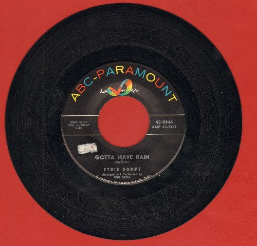 Gorme, Eydie - Gotta Have Rain/To You, From Me (ssol) - EX8/ - 45 rpm Records
