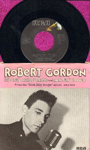 Gordon, Robert - It's Only Make Believe/Rock Billy Boogie (with picture sleeve) - NM9/EX8 - 45 rpm Records