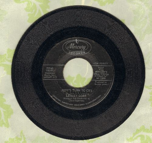 Gore, Lesley - Judy's Turn To Cry/Just Let Me Cry  - VG6/ - 45 rpm Records