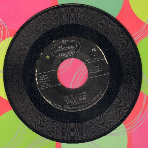 Gore, Lesley - Maybe I Know/Wonder Boy (bb) - EX8/ - 45 rpm Records