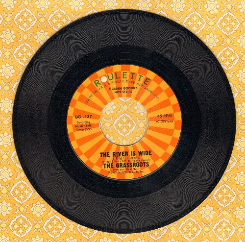 Grass Roots - The River Is Wide/Wait A Million Years (double-hit re-issue) - NM9/ - 45 rpm Records