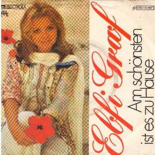 Graf, Elfi - Am schonsten ist es zu Hause/Was wird aus einer verlorenen Liebe (German Pressing with picture sleeve) - NM9/EX8 - 45 rpm Records