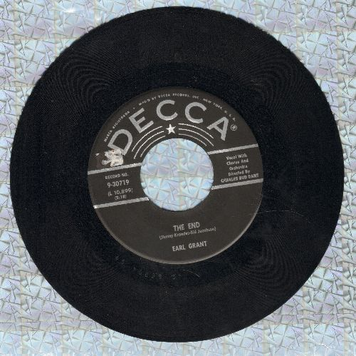 Grant, Earl - The End (At The End Of A Rainbow There's A Pot Of Gold)/Hunky Dunky Doo  - VG7/ - 45 rpm Records