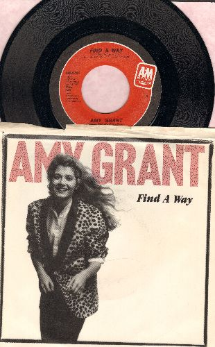 Grant, Amy - Find A Way/Angels (with picture sleeve) - NM9/VG7 - 45 rpm Records