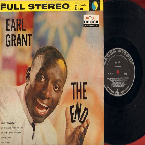 Grant, Earl - The End: Volare, Jamaica Farewell Song, I'm Just A Lucky So And So, Hello Young Lovers (vinyl MONO LP record, RARE black label first issue) - VG6/VG7 - LP Records