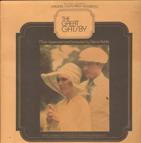Great Gatsby - The Great Gatsby - Original Motion Picture Sound Track, music composed by Nelson Riddle, 2 vinyl STEREO LP record set, gate-fold cover. - NM9/EX8 - LP Records
