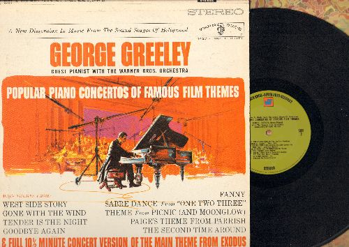 Greeley, George - Popular Piano Concertos Of Famous Film Themes: Sabre Dance (One Two Three), Gone With The Wind, West Side Story, Main Theme From Exodus (vinyl STEREO LP record) - NM9/EX8 - LP Records