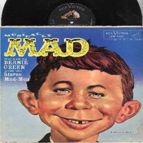 Green, Bernie & The Stereo Mad Men - Musically Mad: Concerto For Two Hands, The Green Bee, Clinkerated Chimes, Two Guitars A Banjo And A Mandolin, Laughing Raymond, Alfred In The Circus, The Scater And His Dog, more! (vinyl MONO LP record, RARE Novelty!)