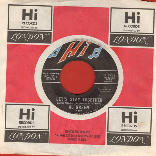 Green, Al - Let's Get Married/So Good To Be Here (with Hi company sleeve) - NM9/ - 45 rpm Records
