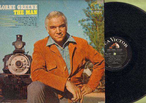 Greene, Lorne - The Man: Sixteen Tons, Nine Pound Hammer, Destiny, Bring On The Dancin' Girls, Fourteen Men (vinyl MONO LP record) - VG7/VG7 - LP Records