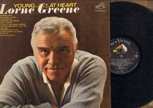 Greene, Lorne - Young At Heart: September Song, Something's Gotta Give, As Time Goes By, The Second Time Around (vinyl MONO LP record) - NM9/EX8 - LP Records