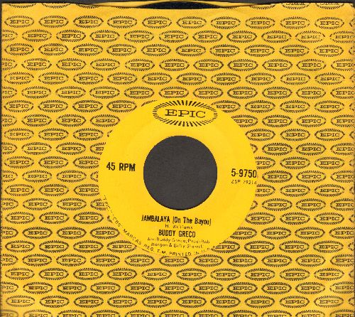 Greco, Buddy - Jambalaya (On The Bayou)/I Can't Help It (If I'm Still In Love With You) (with Epic company sleeve) - EX8/ - 45 rpm Records