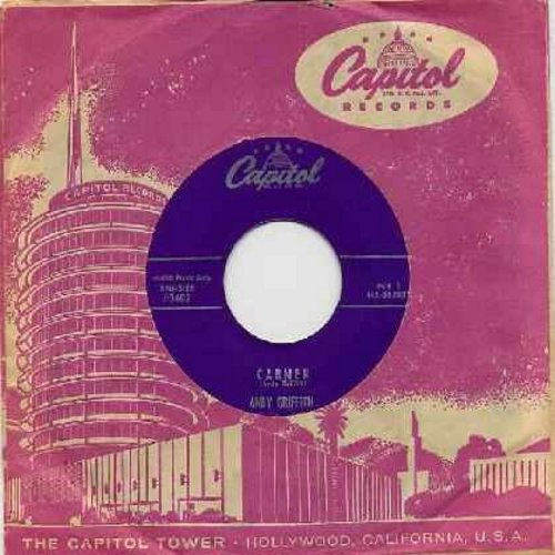 Griffith, Andy - Carmen (Parts 1 + 2) (purple label first issue with vintage Capitol company sleeve) - EX8/ - 45 rpm Records