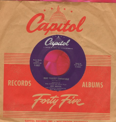 Griffith, Andy - Make Yourself Comfortable/Ko Ko Mo I Love You So (Canadian Pressing with Capitol company sleeve) - EX8/ - 45 rpm Records
