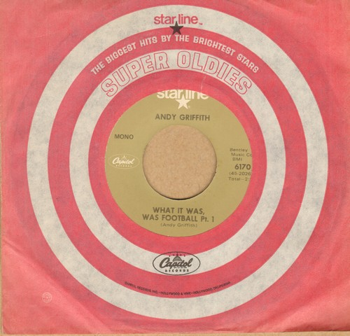 Griffith, Andy - What It Was, Was Football (Parts 1 + 2) (re-issue of the vintage comedy classic!) - EX8/ - 45 rpm Records