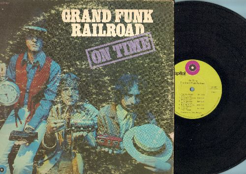 Grand Funk Railroad - On Time: Are You Ready, Time Machine, High On A Horse, Call Yourself A Man (vinyl STEREO LP record) - VG7/G5 - LP Records