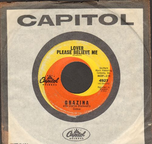 Grazina - Lover Please Believe Me/So What! (FANTASTIC 60's Girl Sound 2-sider!) (with vintage Capitol company sleeve) - VG7/ - 45 rpm Records